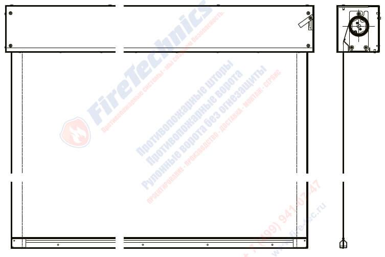 Монтаж противопожарной шторы инструкция