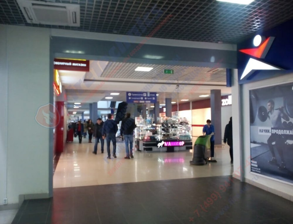 "Automatic fire curtains EI60 and EI120 in the shopping center ""North"""