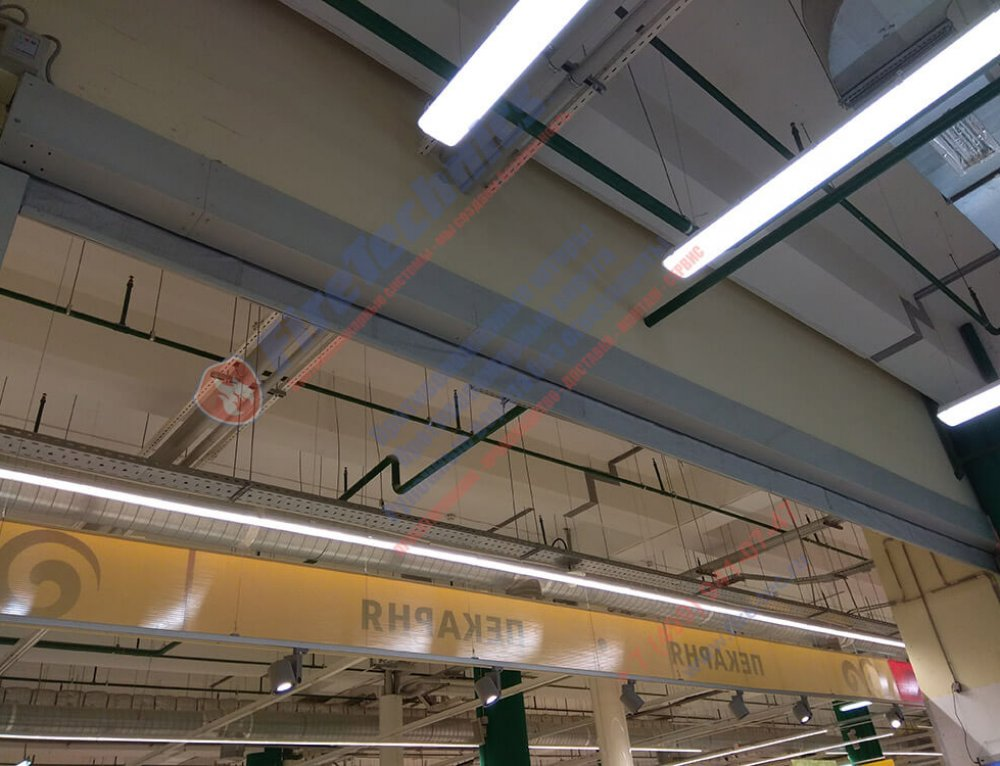 Automatic fire curtains EI 120 in the shopping center Reutov Park