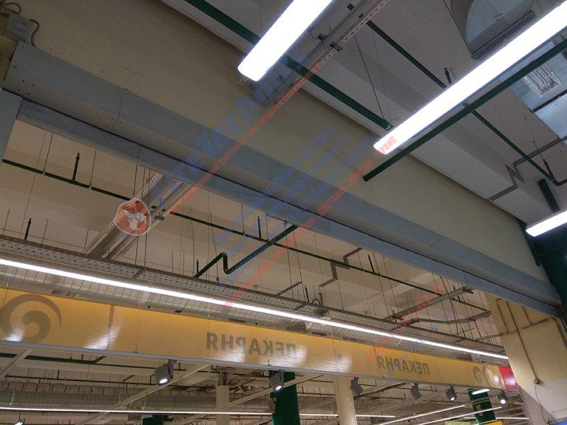 Противопожарные автоматические шторы EI 120 в ТРЦ Реутов Парк