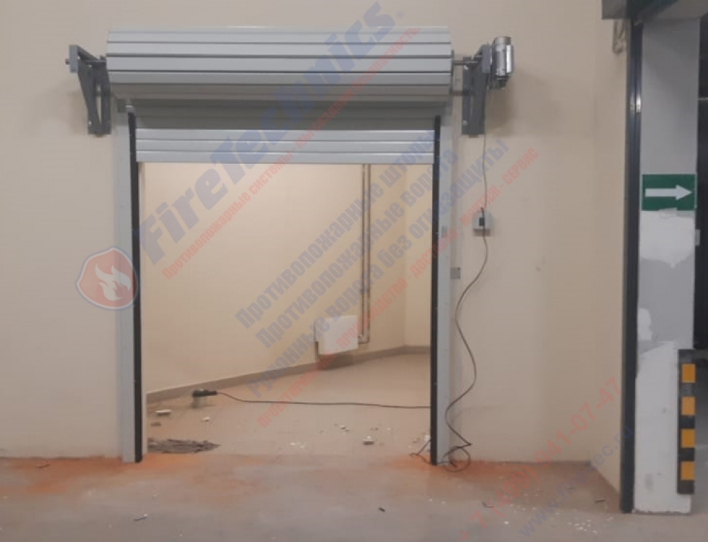 Steel fire-prevention rolled (twisting) gate in Residential complex «Peter I»