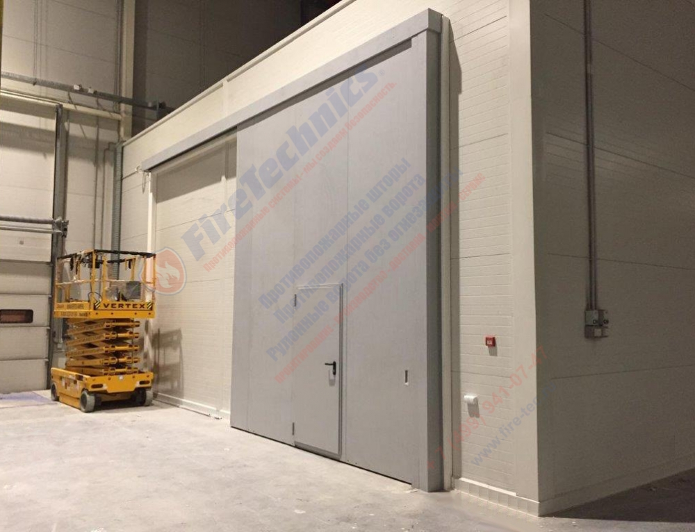 Sliding fire gate EI60